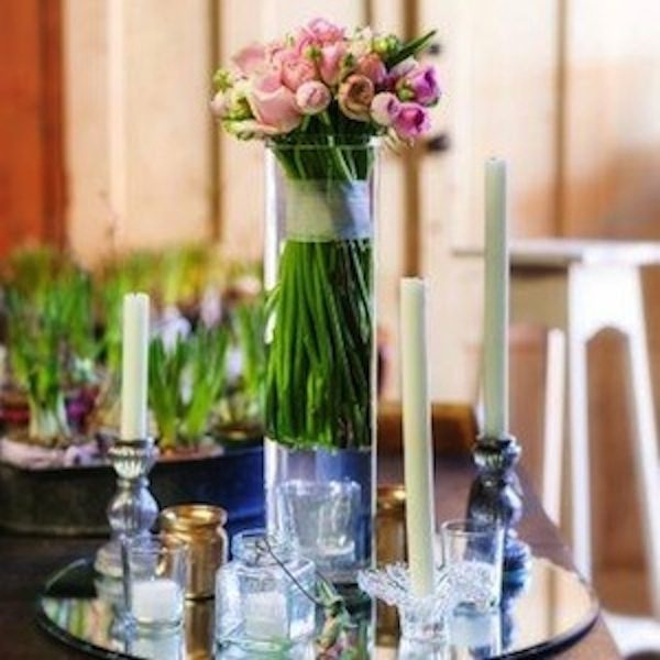 Glass vases and candlesticks